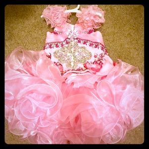 Pink Bedazzled Pageant Dress